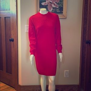 Liz Claiborne red sweater dress. Size large